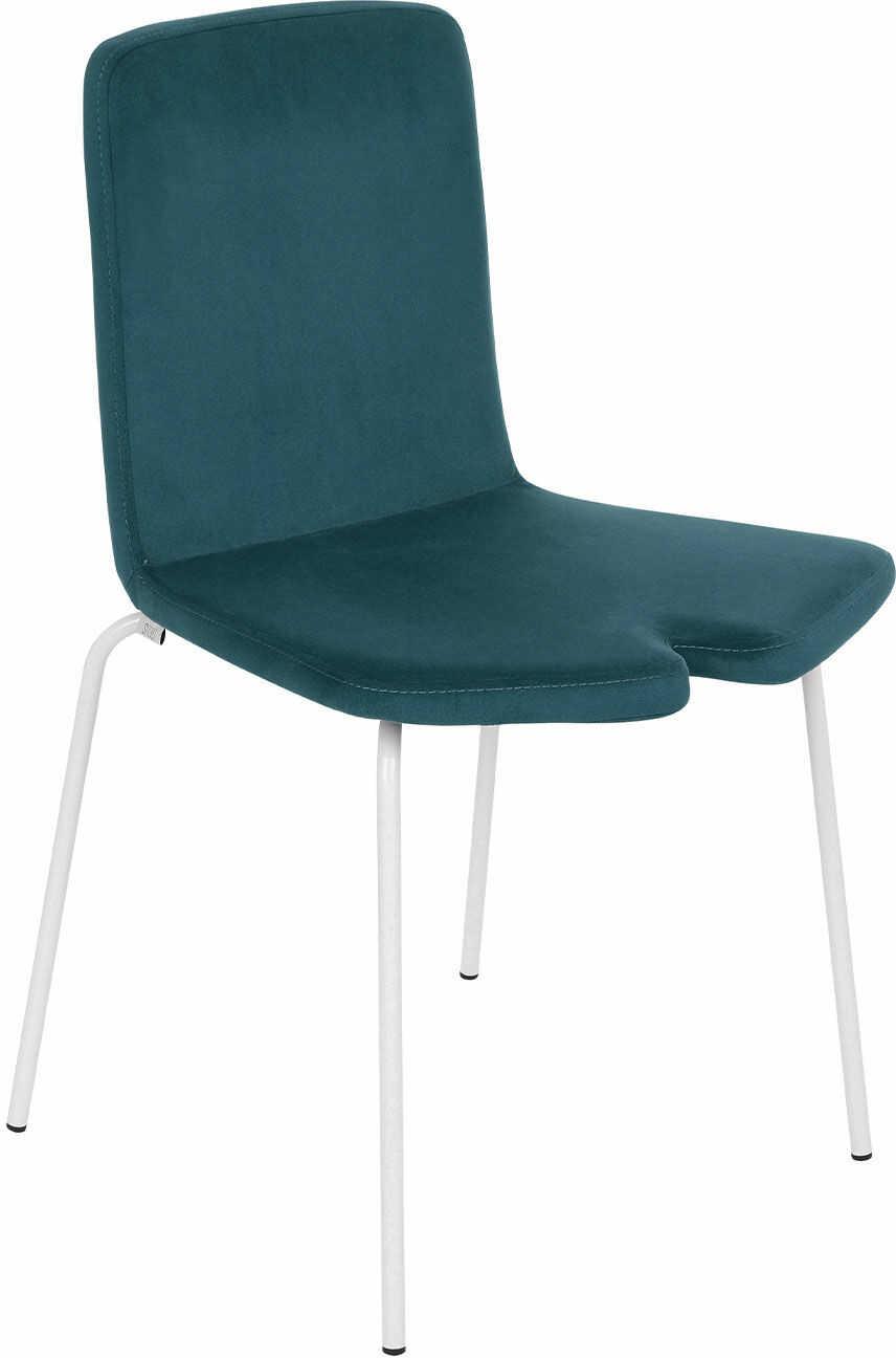 Krzesło Y Steel, tapicerowane, na metalowych nóżkach, do jadalni, do kawiarni, lekkie, nowoczesne