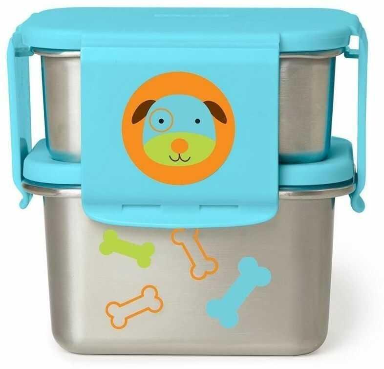 Stalowe pudełko śniadaniowe Pies 252727-Skip Hop, pojemniki na jedzenie