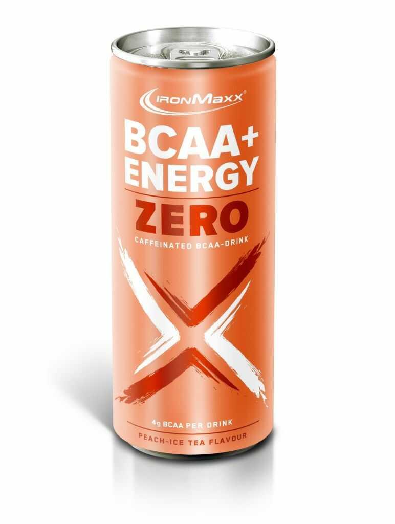 Ironmaxx BCAA Energy drink 330ml, Smak: Brzoskwinia - herbata mrożona