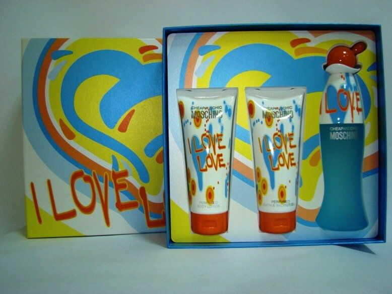 Moschino I Love Love - damska EDT 4,9 ml + mleczko do ciała 25 ml + żel pod prysznic 25 ml