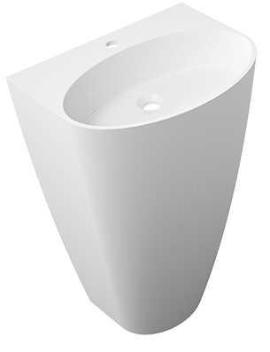 Omnires Siena UW umywalka wolnostojąca biały połysk SienaUWMarble+