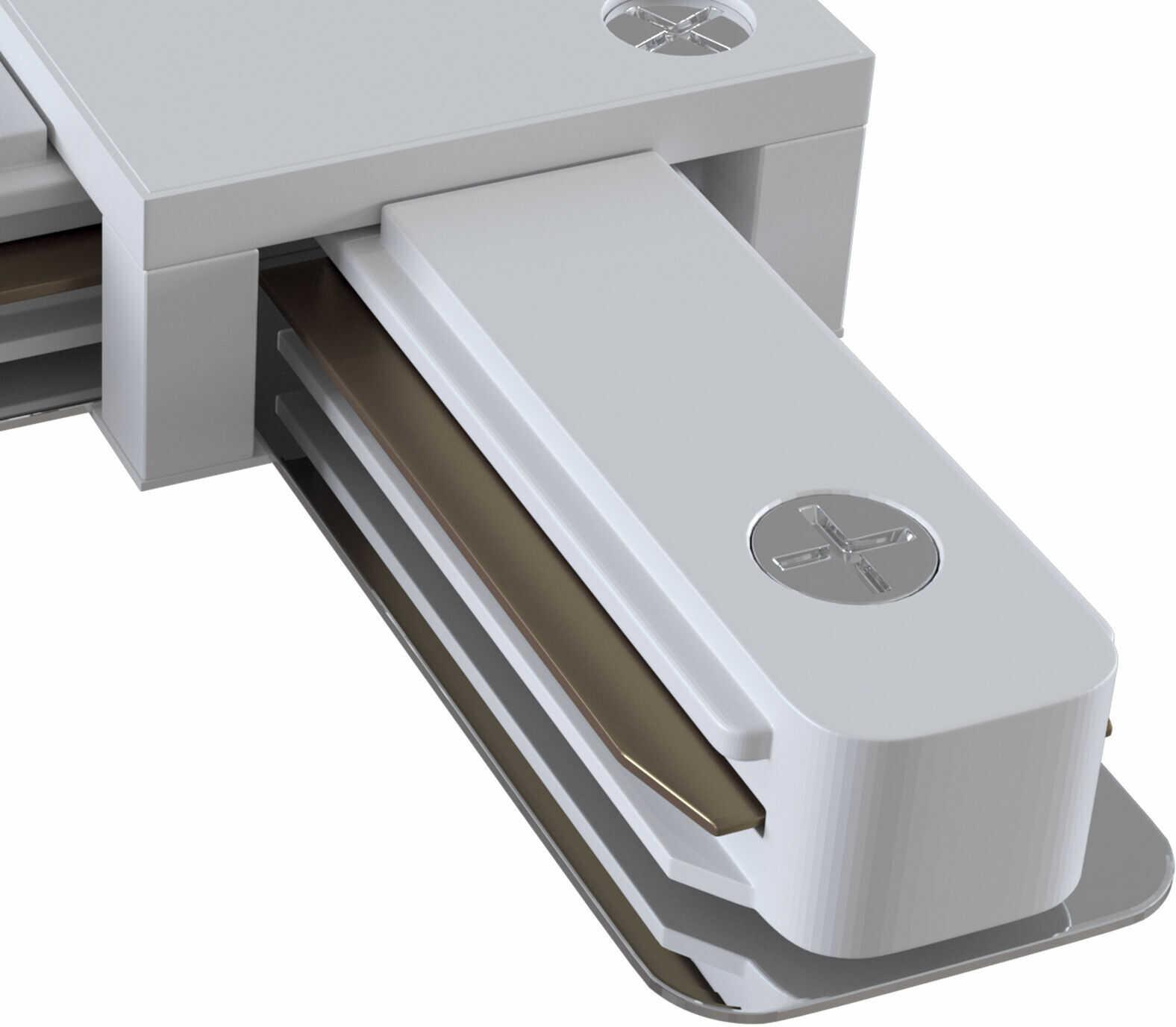 Maytoni Accessories for tracks TRA001CL-11W łącznik wzdłużny L do systemu szynowego biały 7cm