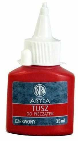 Tusz do pieczątek Astra 35 ml 3517-TP 110407-CZE, Kolor: Czerwony