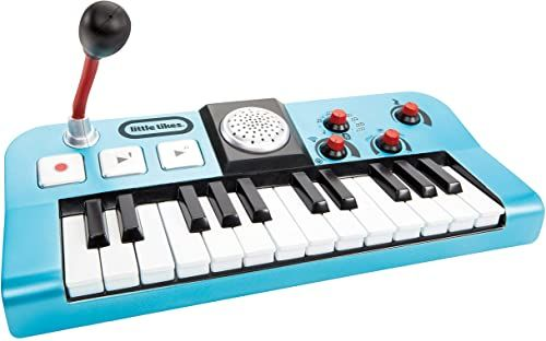 Little Tikes My Real Jam Keyboard - Zabawkowa Klawiatura z Mikrofonem i Etui - Cztery Tryby Gry, Regulacja Głośności, Łączność Bluetooth - Zachęca do Pomysłowej i Kreatywnej Zabawy - Dla Dzieci 3+
