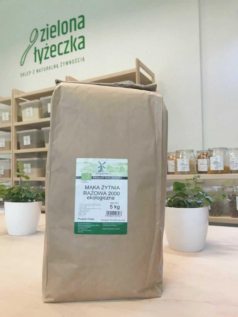 Mąka żytnia razowa 2000 ekologiczna