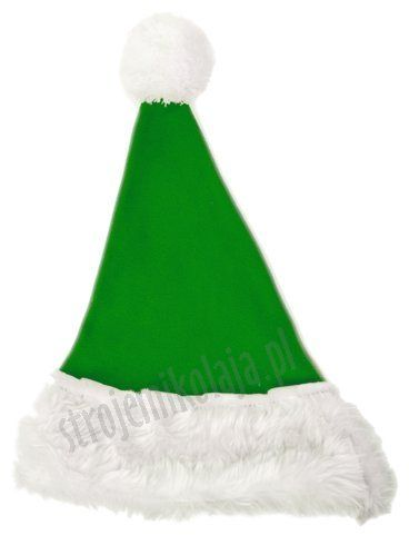 Jasnozielona czapka Mikołaja dla dzieci