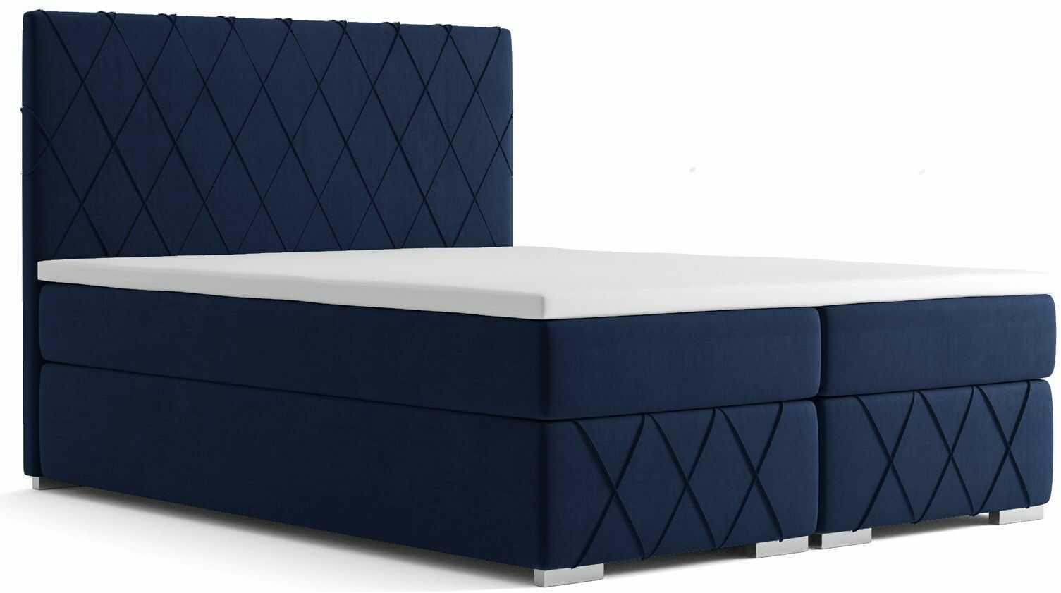 Podwójne łóżko boxspring Elise 140x200 - 58 kolorów