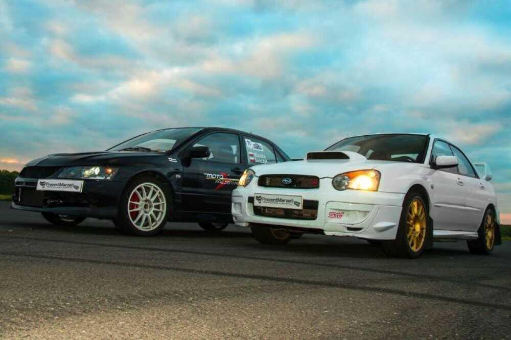 Pojedynek Tytanów  Subaru Impreza vs Mitsubishi Lancer  Tor Jastrząb
