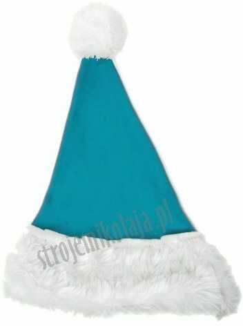 Turkusowa czapka Mikołaja dla dzieci