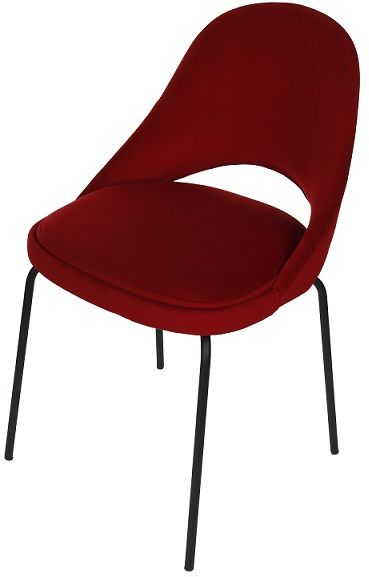 Krzesło Costa Steel, nowoczesne, do biurka, do salonu, do jadalni, tapicerowane, na metalowych nóżkach