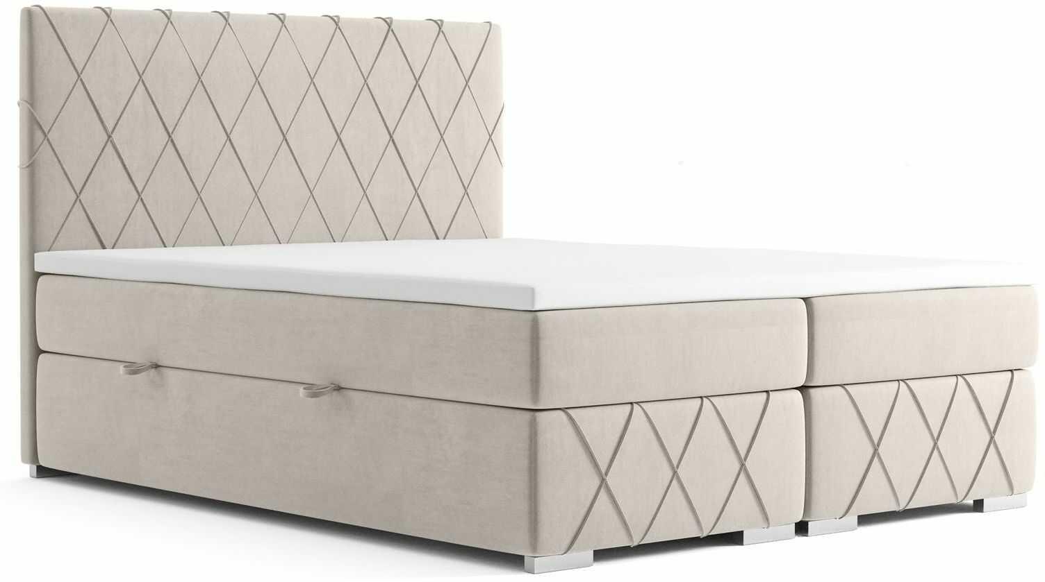 Małżeńskie łóżko kontynentalne Elise 160x200 - 58 kolorów