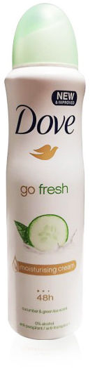 Dove Go Fresh Cucumber&Green Tea Antyperspirant w sprayu, o świeżym zapachu 150 ml
