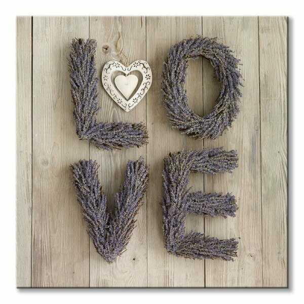 Obraz na płótnie - Lavenda Love - 85x85 cm