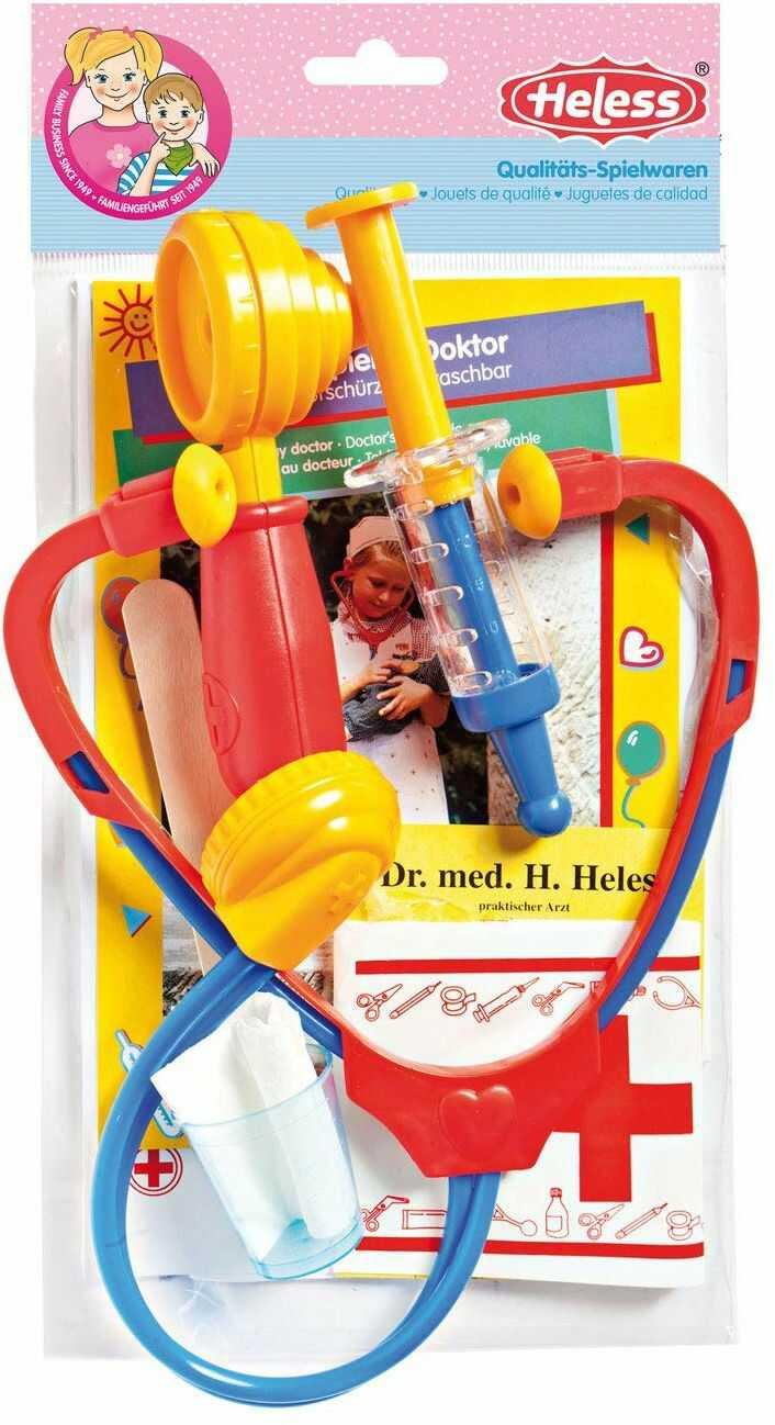 Heless 53  zestaw do gry w Doktorze ze ze stetoskopem i innymi akcesoriami, w 2 wariantach, sortowany, dla dzieci