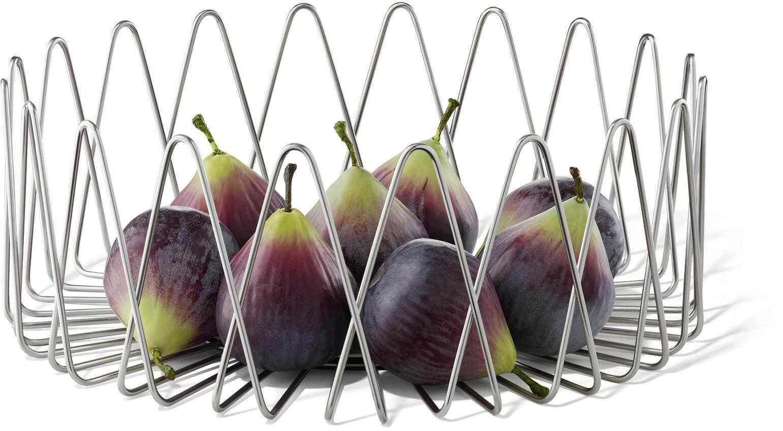 Zack BIVIO kosz na owoce, srebrny, 30 cm x 10 cm / duży