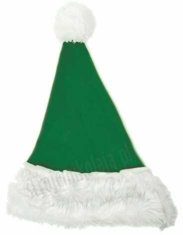 Zielona czapka Mikołaja dla dzieci