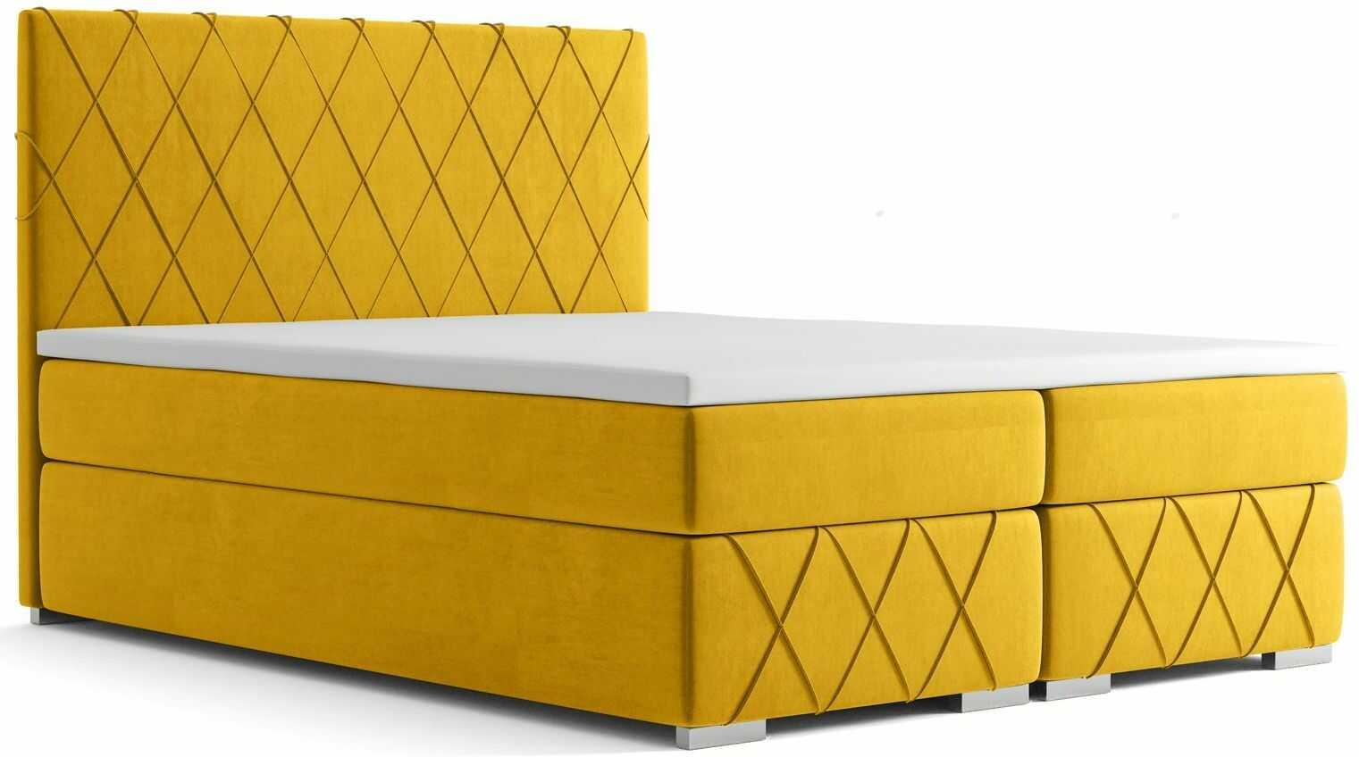 Pikowane łóżko kontynentalne Elise 180x200 - 58 kolorów