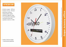 Zegar reklamowy 12'' biały /305mm