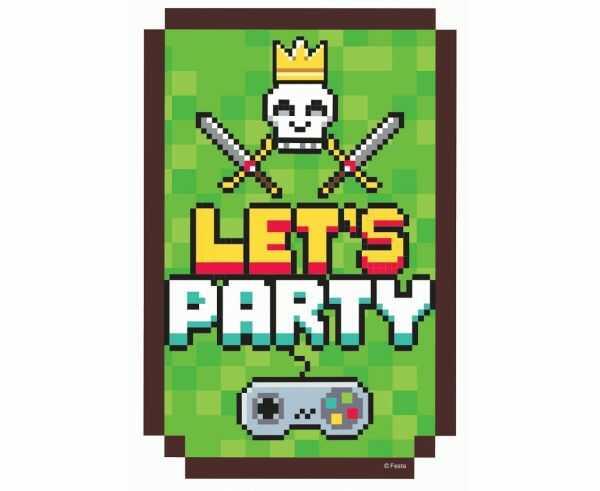 Zaproszenia Game On 6 szt z kopertami PF-ZAGO