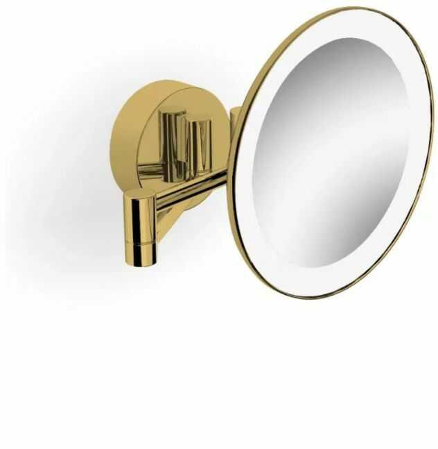 Stella lusterko kosmetyczne powiększające x3 podświetlane LED ruchome ramię złoty połysk 22.00230-G wysyłka 24h