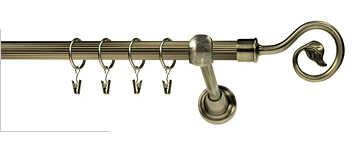 Karnisz SPIRALKA RYFEL 19mm antyk mosiądz