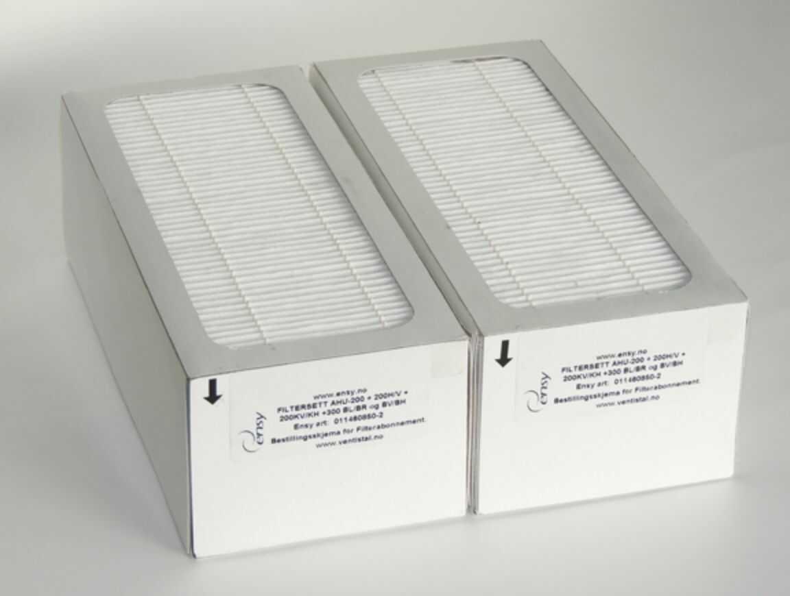 Filtr F7 do rekuperatora sufitowego Ensy AHU 300 - Filtry - Rekuperatory powietrza