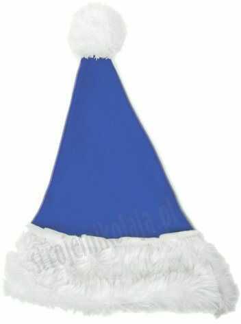 Niebieska czapka Mikołaja dla dzieci