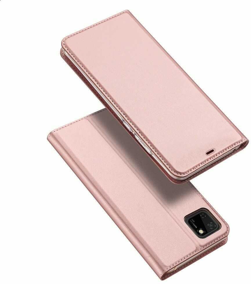 DUX DUCIS Skin Pro kabura etui pokrowiec z klapką Huawei Y5p różowy