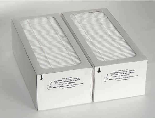 Filtr F7 z węglem aktywnym do rekuperatora ściennego Ensy AHU 200/300 - Filtry - Rekuperatory powietrza