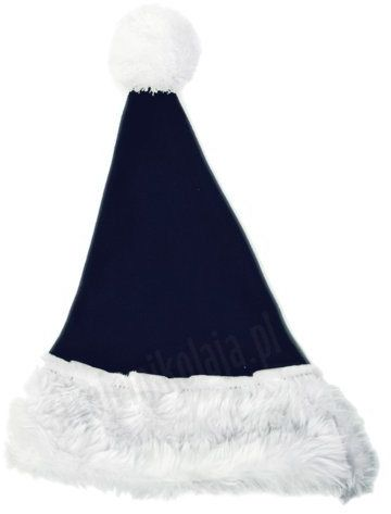 Granatowa czapka Mikołaja dla dzieci