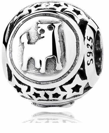 Rodowany srebrny charms do pandora znak zodiaku byk srebro 925 BEAD17