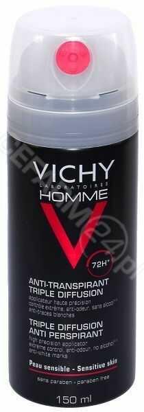 Vichy homme antyperspirant w aerozolu 72h 150 ml