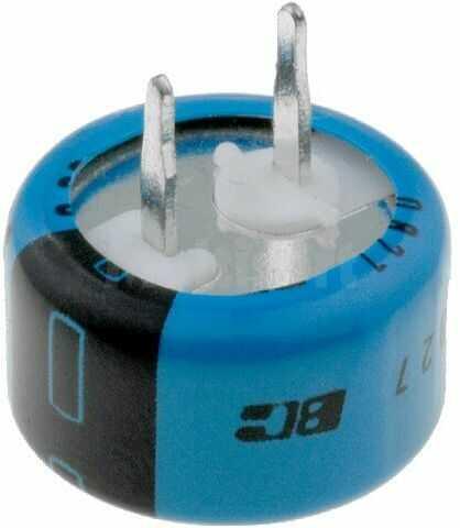 Kondensator elektrolityczny VISHAY THT 0,33F 5,5V O13x7mm