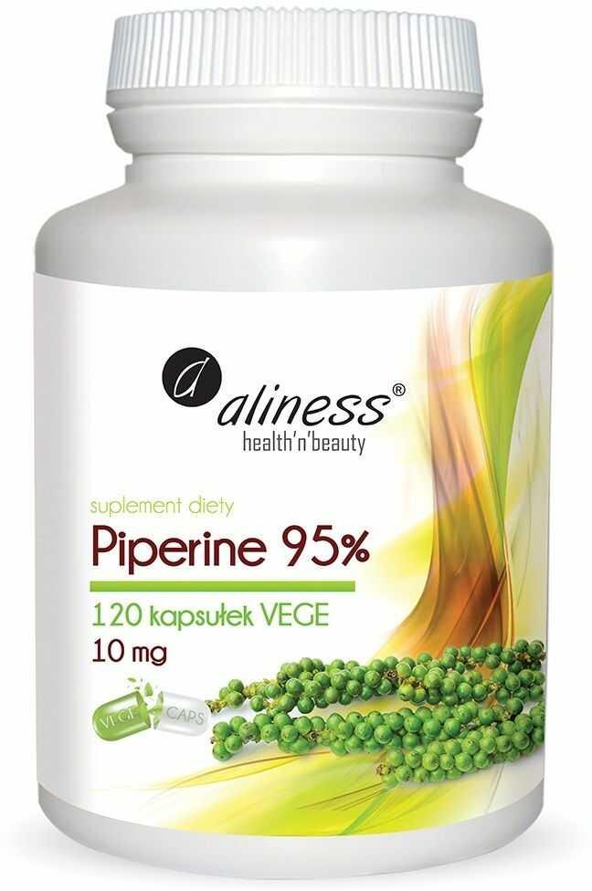 ALINESS Piperine 95% 10 mg (Piperyna) 120 kapsułek wegetariańskich