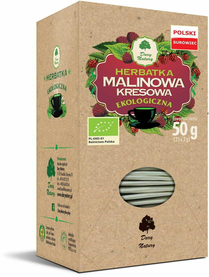 Herbatka malinowa kresowa bio (25 x 2 g) - dary natury