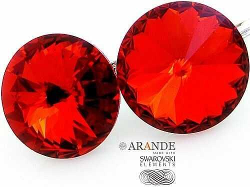 Nowe! Kryształy Piękne Kolczyki Light Siam Paris