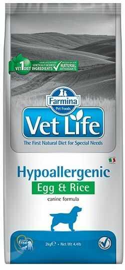 Vet Life Hipo (Hypoallergenic) Egg & Rice Dog