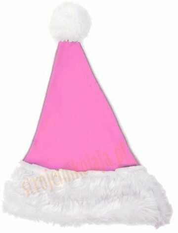 Jasnoróżowa czapka Mikołaja dla dzieci