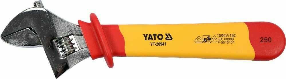 KLUCZ NASTAWNY IZOLOWANY 250MM VDE Yato YT-20941 - ZYSKAJ RABAT 30 ZŁ