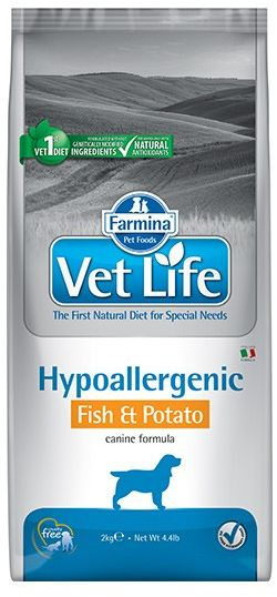 Vet Life Hipo (Hypoallergenic) Fish & Potato Dog