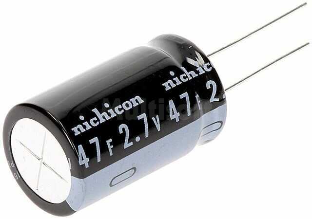 Kondensator elektrolityczny NICHICON superkondensator 47F 2,7V THT