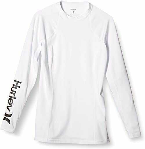 Hurley Damska koszulka One & Only z długim rękawem dopasowana Rashguard Spf Protection Shirt Rash Guard biały XS