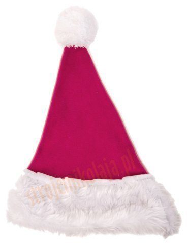 Ciemnoróżowa czapka Mikołaja dla dzieci