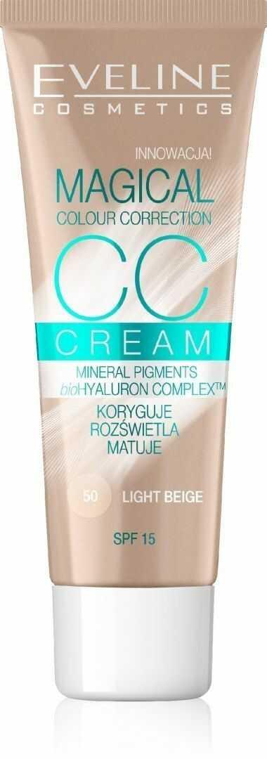 Eveline Eveline Fluid Magical CC Cream nr 50 Jasny Beż 30ml