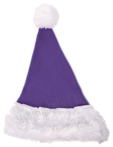Fioletowa czapka Mikołaja dla dzieci