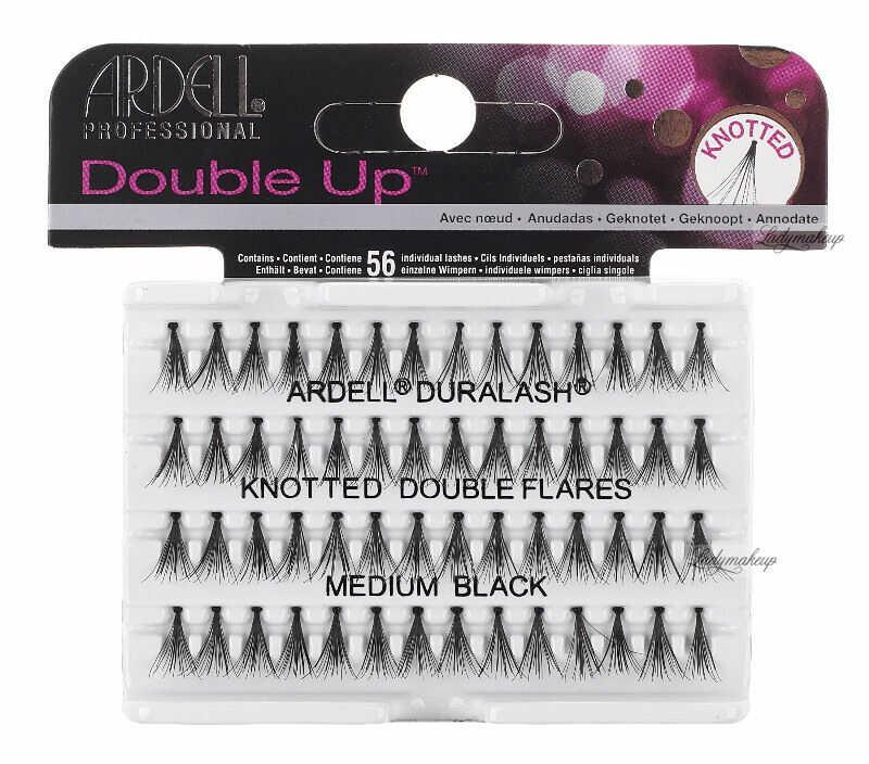 ARDELL - Double Up - Rzęsy w kępkach o zwiększonej objętości - KNOTTED DOUBLE FLARES - MEDIUM BLACK