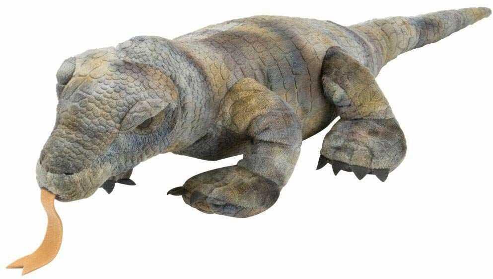 Wild Republic 14147 Szare Komodo Smok Pluszowe Przytulne Miękkie zabawki Prezenty dla dzieci, 30 cm