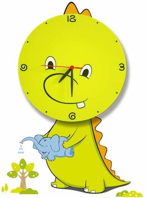 Milagro DRAGON LED CLOCK ML146 kinkiet lampa ścienna dziecięca włącznik sznurkowy smok LED 0,6W 26cm