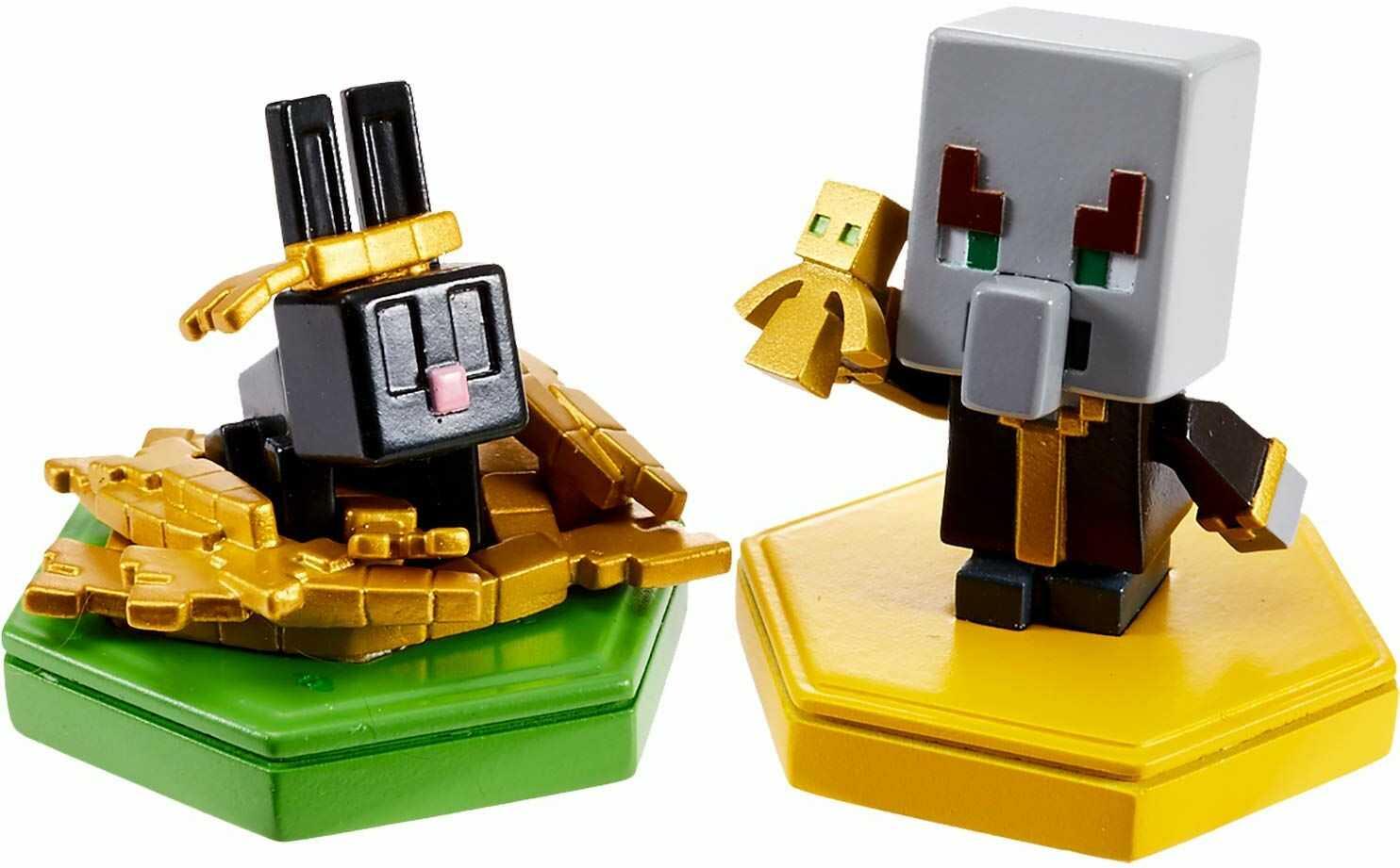 """Minecraft GKT44  Earth Boost mini figurka """"Magier + króliki"""", zestaw 2 szt. z chipem NFC do gry Augmented-Reality """"Earth"""" do urządzeń mobilnych, zabawka dla dziewczynek i chłopców od 6 lat"""