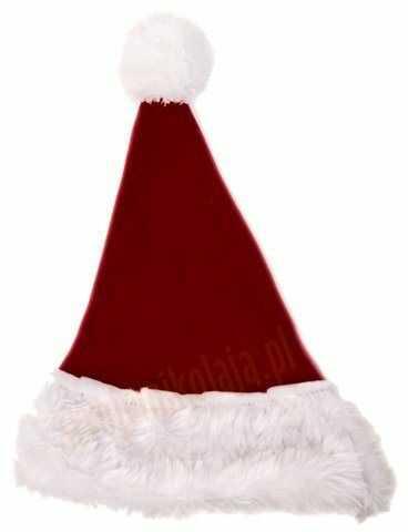 Bordowa czapka Mikołaja dla dzieci
